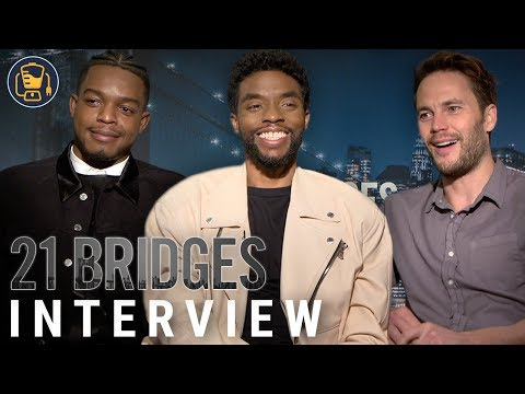 Chadwick Boseman, Taylor Kitsch And More | 21 Bridges Cast Interview
