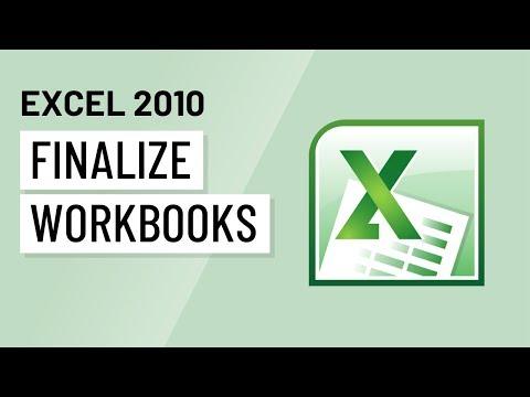 Excel 2010: Finalizing Workbooks