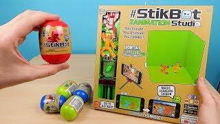 Новая Стикбот Мини студия и Стикботы Динозавры в Яйцах Сюрприз! Stikbot Dino Eggs. alex boyko