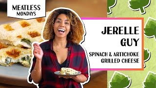 Spinach &amp Artichoke Grilled Cheese  Meatless Mondays - Jerrelle Guy