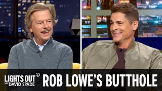 Rob Lowe Has Been Sunning His Butthole Forever - Lights Out with David Spade