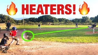 THIS LITTLE LEAGUE PITCHER THROWS A CRAZY FASTBALL! LITTLE LEAGUE BASEBALL GAME ANGELS VS RED SOX Video