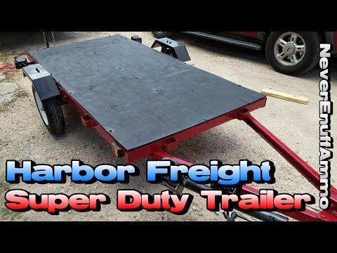 Harbor Freight 1,720 LB Super Duty Trailer - Before & After (What you Need to Know)