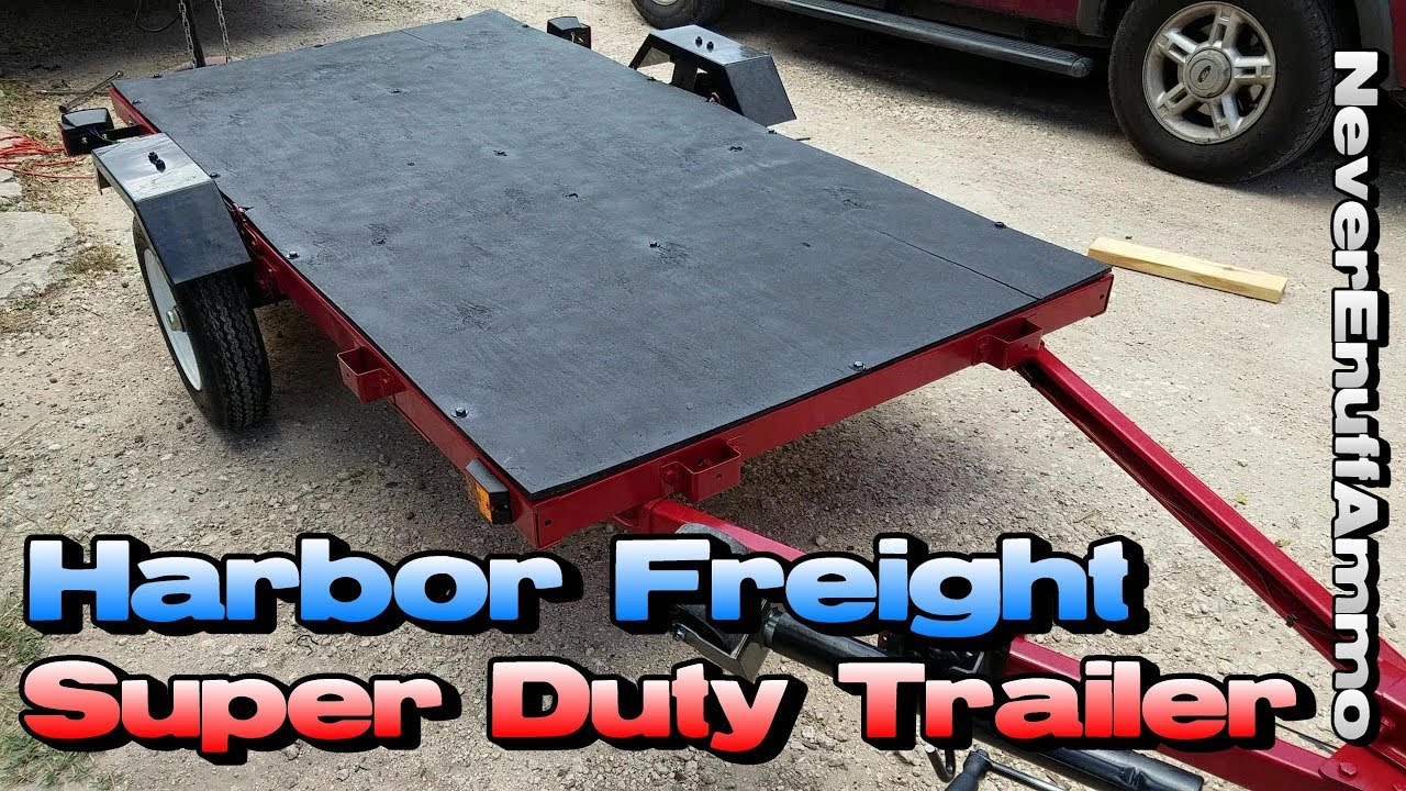 Harbor Freight 1,720 LB Super Duty Trailer - Before & After (What