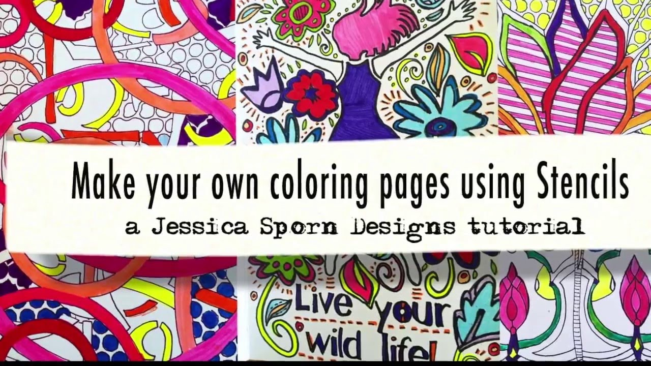 Creating Coloring Pages with Stencils YouTube