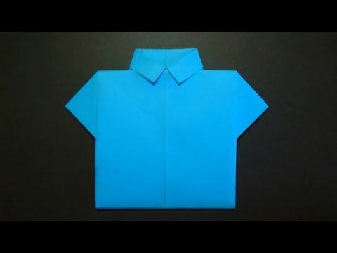 Как сделать рубашку из бумаги. Оригами рубашка из бумаги.