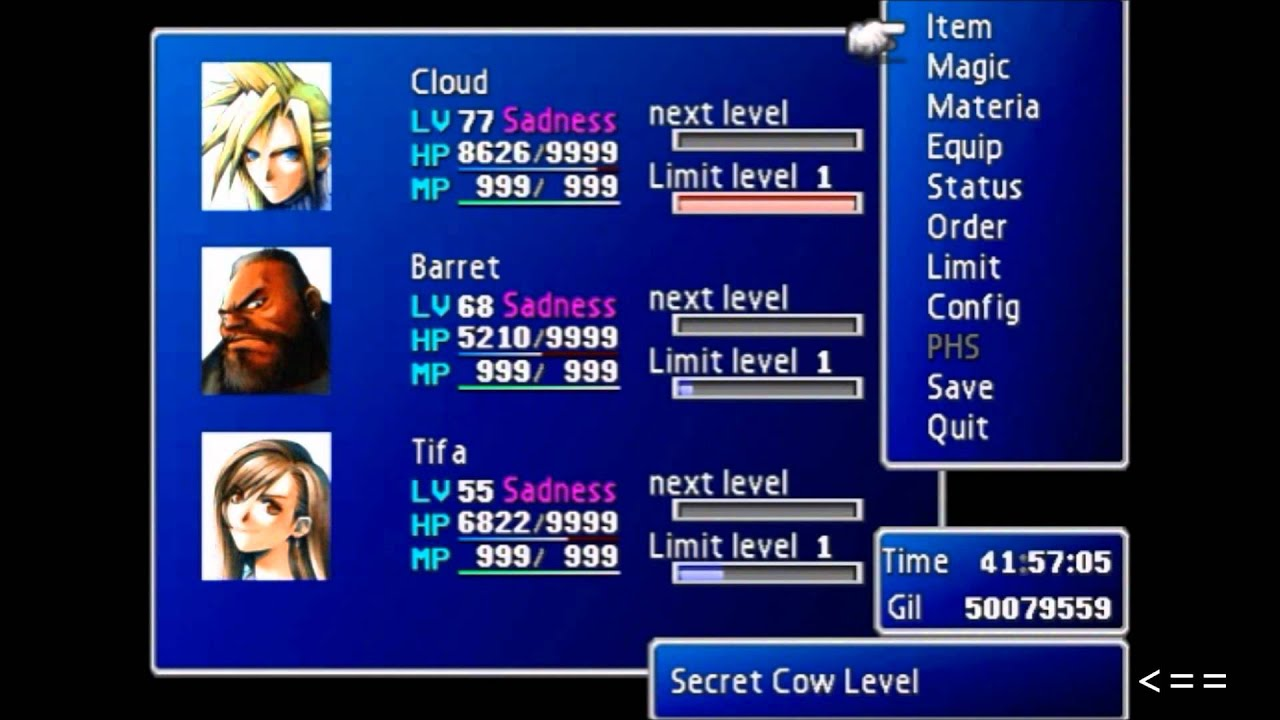 how to get to level 2 in final fantasy 7