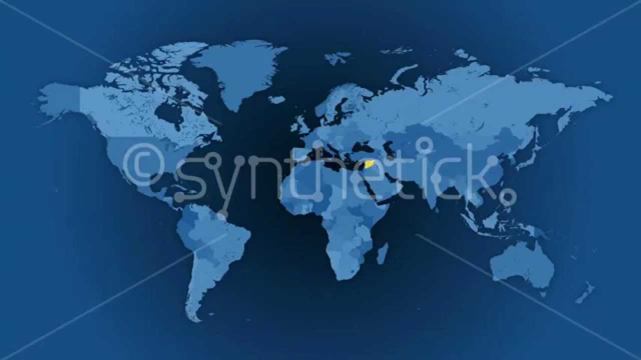 Political world map animated loop a random selection of 100 political world map animated loop a random selection of 100 countries gumiabroncs Images