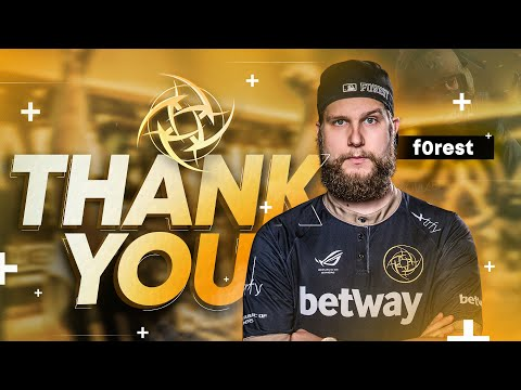 Thank You, F0rest - Official Tribute Video | Ninjas In Pyjamas