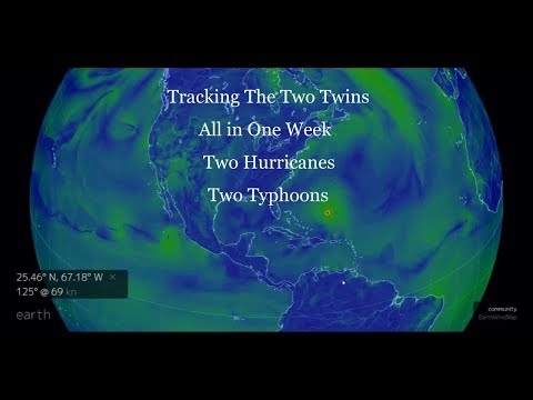 Tracking Jose and Norma with Typhoons Talim and Doksuri