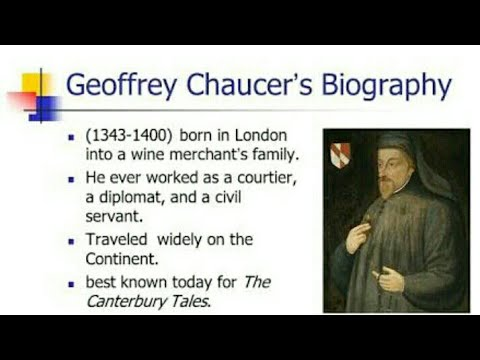 Facts about Geoffrey Chaucer