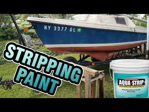 Stripping bottom paint with Aqua Strip