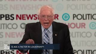 Sen. bernie sanders, i-vt., -- the oldest candidate on democratic debate stage at age 78 said he disagrees with president obama that much of world...