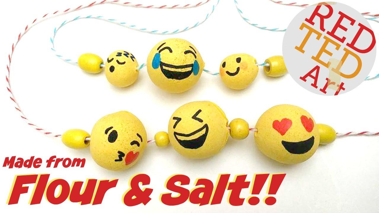 Diy Emoji Beads From Flour Salt Youtube