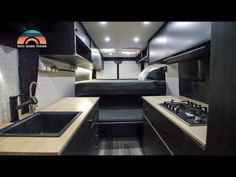 Furniture Maker Builds Apartment On Wheels -  Ingenious Van Life Bed & Couch Conversion