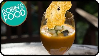 Zucchini Soup With Parmesan Cookies | Robins Food