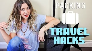 Packing TRAVEL HACKS + How To Pack