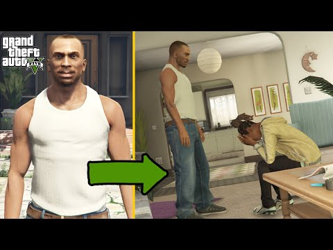GTA V - What If CJ Goes To Franklin's Aunt Denise House