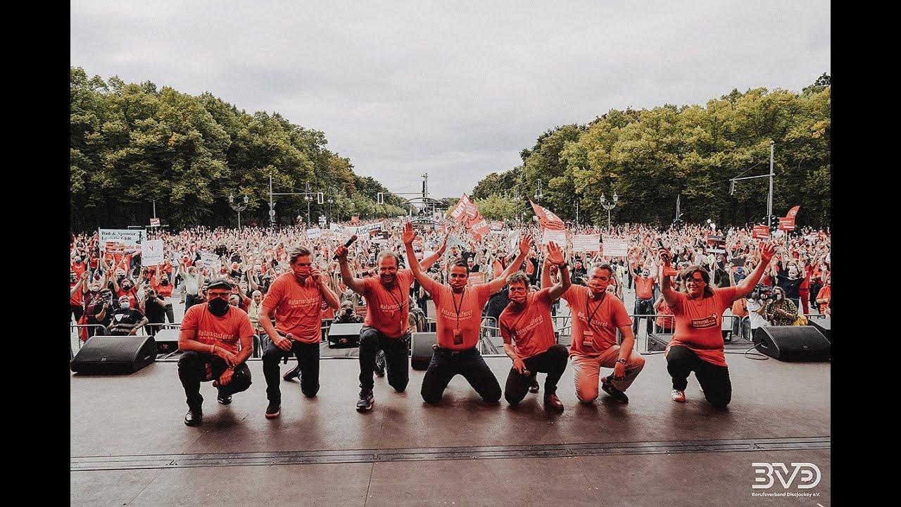 #alarmstuferot Großdemonstration der Veranstaltungswirtschaft am 9.9.2020 in Berlin - Der Film!