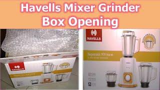 Havells Supermix NV 500W Mixer Grinder Box Opening with 3ss Jar || হেভলস বিলিন্ডার বক্স ওপেনিং