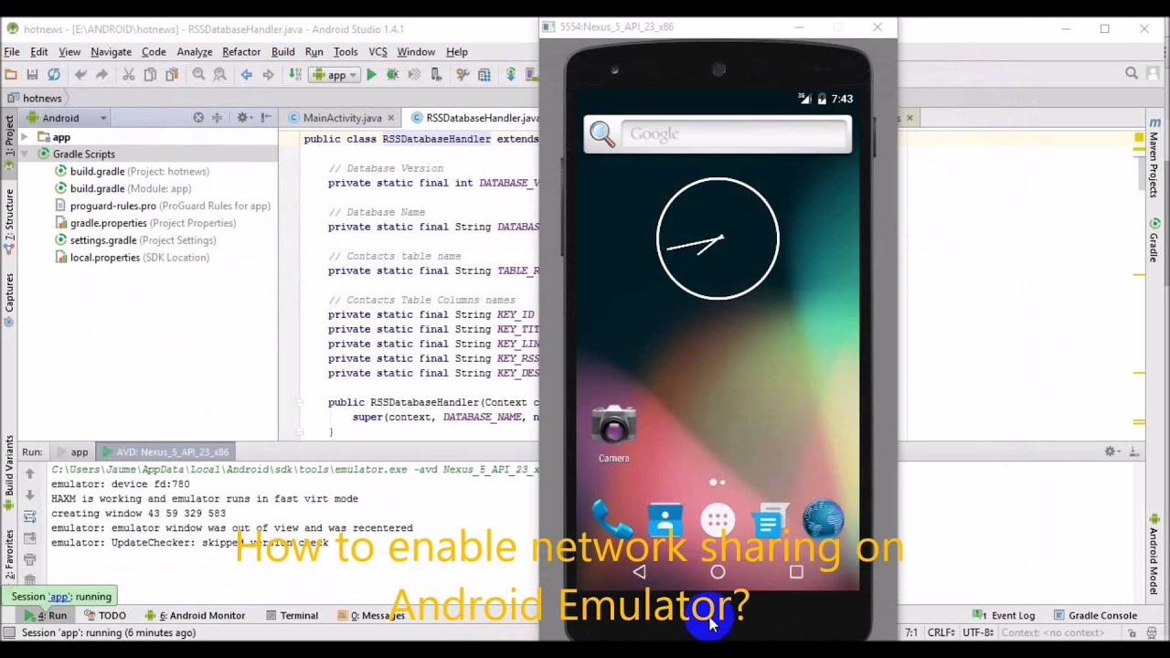 andy android emulator no internet connection