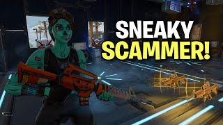 sneaky little scammer scams himself! 😆 (Scammer Get Scammed) Fortnite Save The World