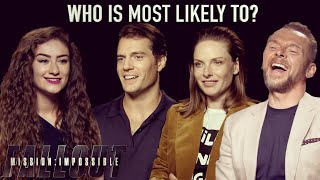 """Mission: Impossible – Fallout Cast Play """"Most Likely To?""""! 