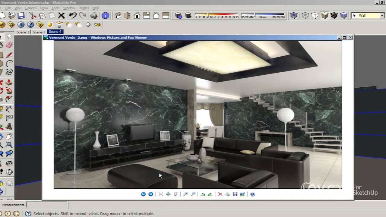 Sketchup vray lighting tutorial sketchup vray interior for Vray interior lighting rendering tutorial