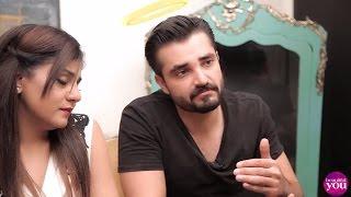 Glam Guppien with Hamza Ali Abbasi