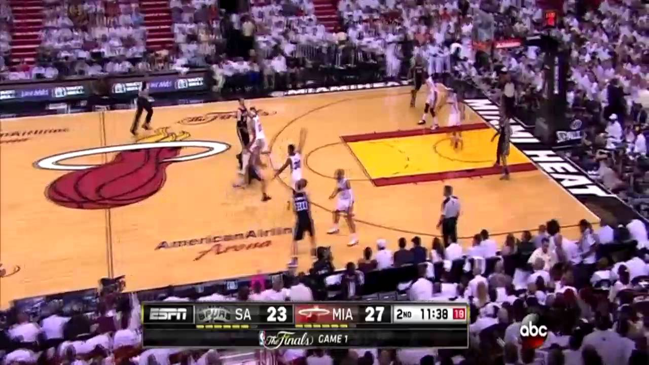 Download Manu Ginobili incredible pass through the legs of Norris Cole
