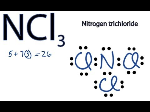 NCl3 Lewis Structure: How to Draw the Dot Structure for NCl3 ...
