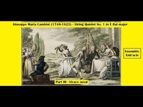 Giuseppe Maria Cambini (1746-1825) - String Quintet Nº 1 in E flat major - Part III