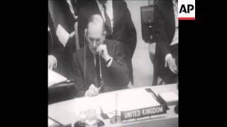 SYND 19 4 68 SECURITY COUNCIL MEETING CRITICISES UK OVER RHODESIA