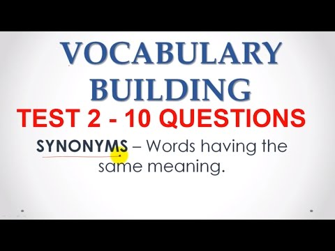 English Vocabulary for Bank PO Exams - Synonyms MCQ Videos