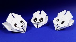 Орігамі кролик з паперу. Орігамі іграшка кролик СТРИБУНЕЦЬ. origami rabbit