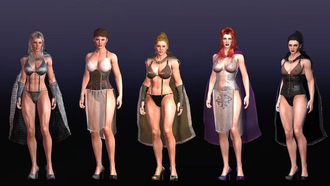 Fantasy Extras - Courtesans  Iclone 7  Character Creator -3386