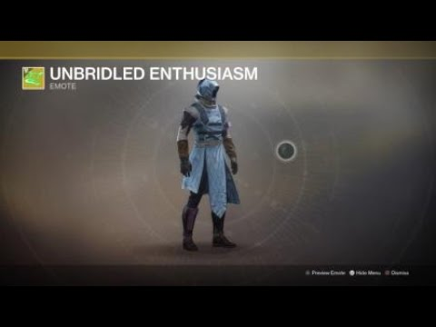 See Destiny 2's new Unbridled Enthusiasm emote, straight from the