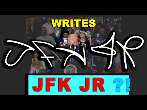 PROOF!! JFK JR ALIVE!! Watch what Vincent Fusca WRITES IN THE AIR at Ohio Trump Rally!! J-F-K J-R !!