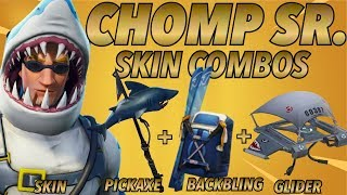 """Chomp SR"" SKIN BEST BACKBLING + SKIN COMBOS! (Season 5 skin) (Fortnite Battle Royale) (2018)"