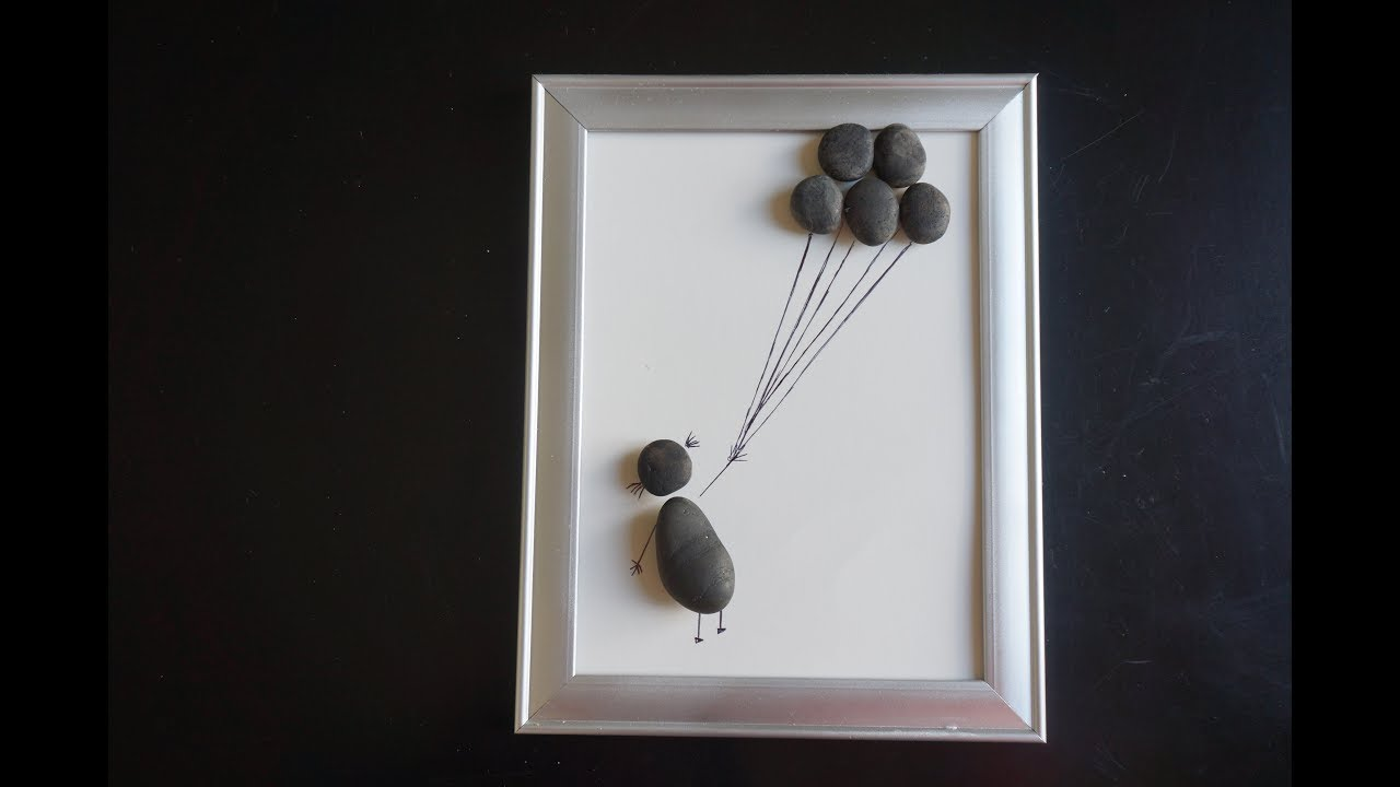 Stone Art Ideas | Wall Decor Using Stones | Easy Crafts for Kids | Arts and  Crafts