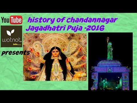 puja  jagadhatri 2016 history of chandannagar