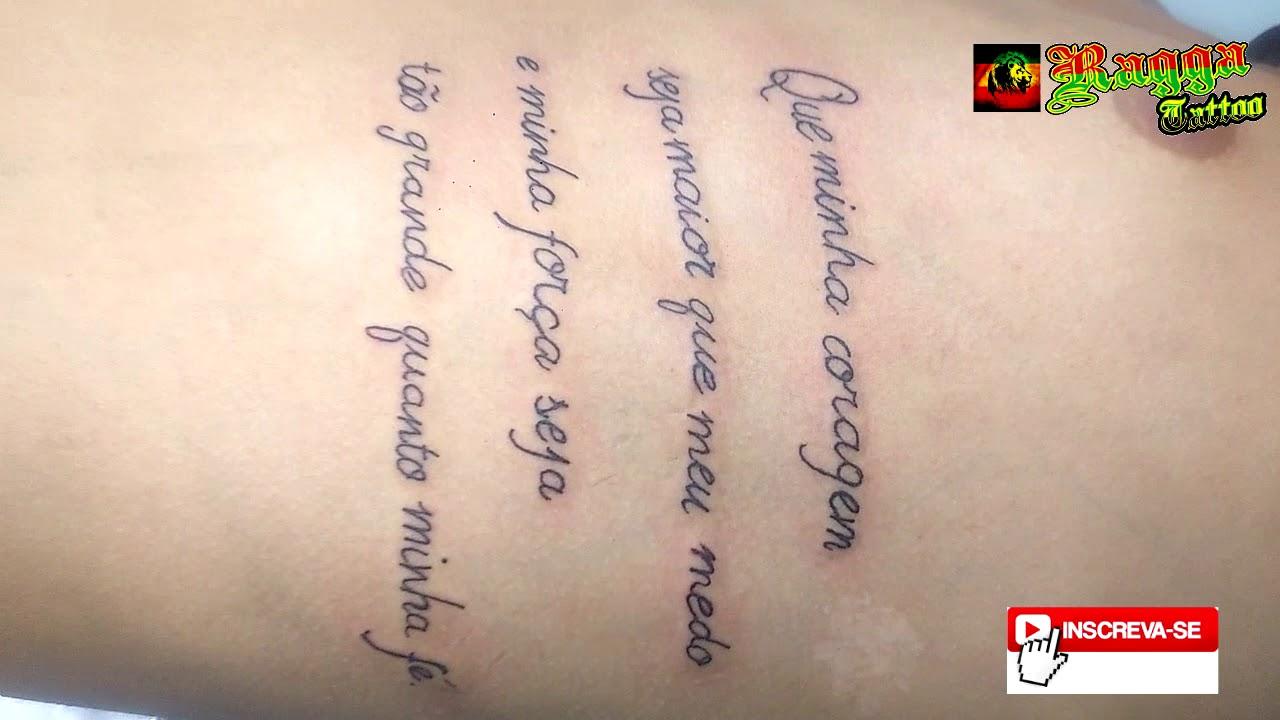 Ragga Tattoo Litoral Tattoo Frase Youtube