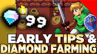Early Game Tips & Diamond Farming for Cadence of Hyrule Ft. The Legend of Zelda