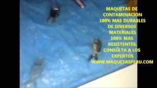 MAQUETAS ESCOLARES- COMO HACER MAQUETAS DE LA CONTAMINACIÓN DEL AGUA