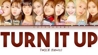 All rights administered by jyp entertainment • artist: twice (트와이스) song: turn it up album: 'fancy you' released: 19.04.22 engtrans: lemoring @ ...