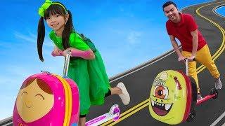 艾玛玩 行李箱滑板车玩具