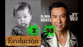 Como Donnie Yen ha cambiado  - Evolución de 2 a 53 años.