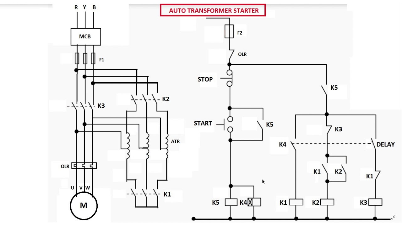 Auto Transformer Starter Diagram Explanation In English