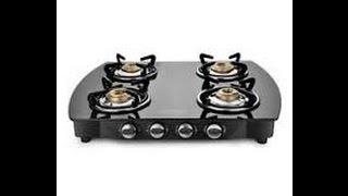 Sunflame Glass Cooktop Crystal Metal 4 Burner PLUS BK Gas Stove review