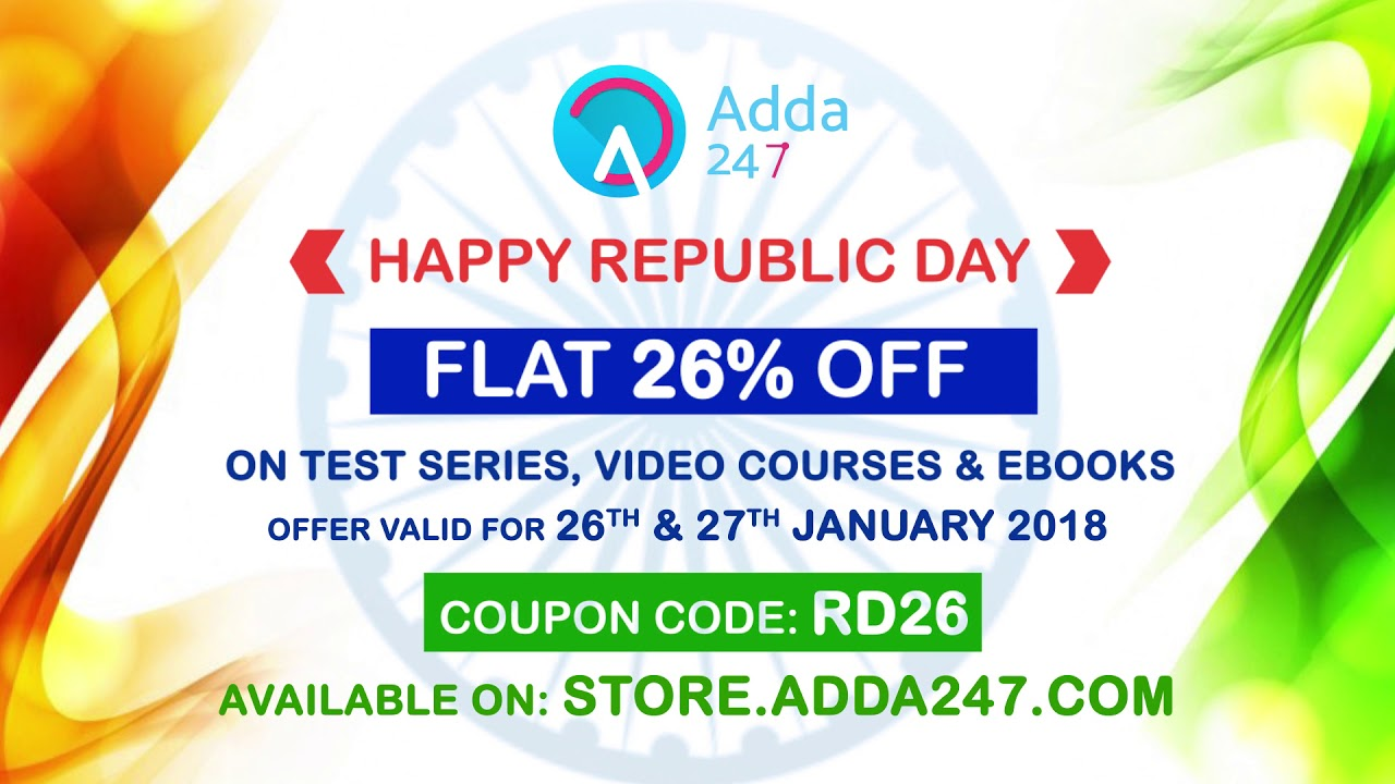 Use code rd26 get flat 26 off on all video courses test use code rd26 get flat 26 off on all video courses test series of adda247 fandeluxe Gallery